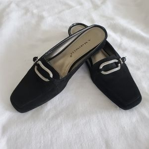 A. Marinelli Black Suede Mules Like New!!!